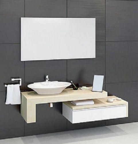 Mobile bagno due pezzi frassino bianco for Mobili bagno con due lavabi