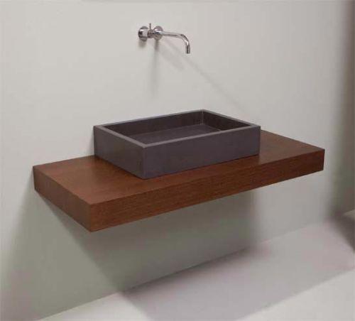 Mensolone bagno su misura in legno massello 150 cm - Top bagno su misura ...