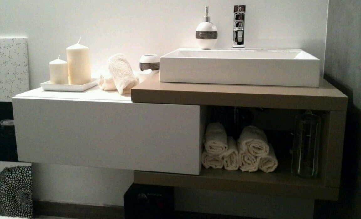 Mobile bagno 100 x 45 x 30 in frassino for Cassapanca mercatone uno