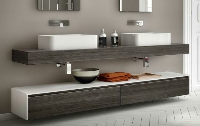 Mobile bagno su misura volubilis 160 cm for Mobile bagno su misura